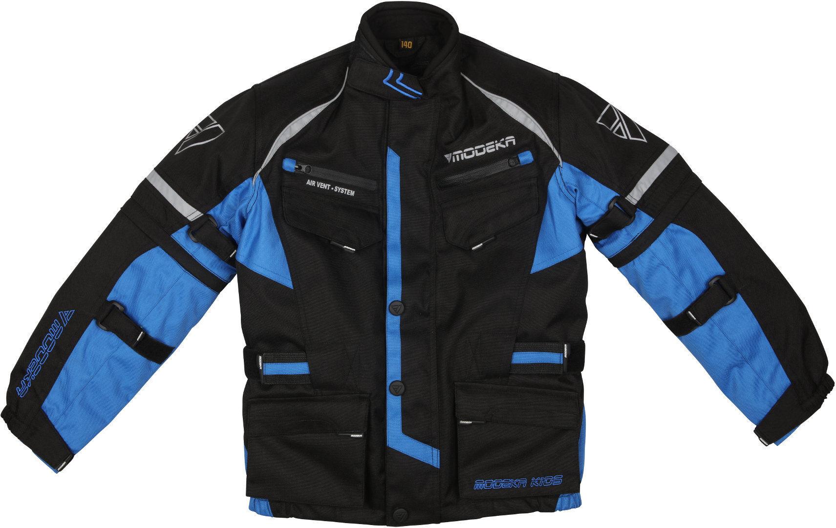 Modeka Tourex II Veste textile de moto pour enfants Noir Bleu taille : 2XS 128
