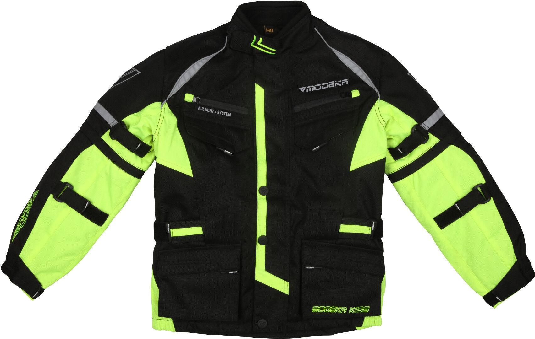 Modeka Tourex II Veste textile de moto pour enfants Noir Jaune taille : M 164