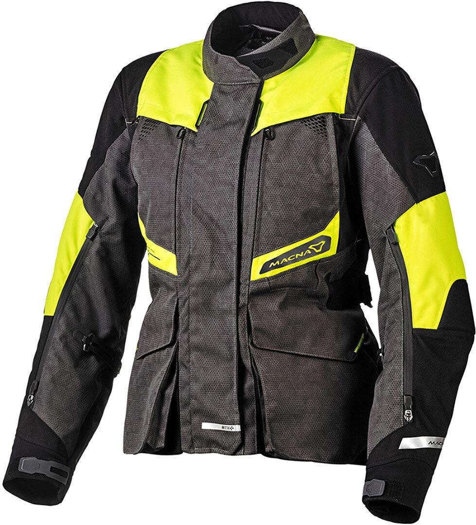 Macna Fusor NightEye Veste textile de moto dames Noir Gris taille : XL
