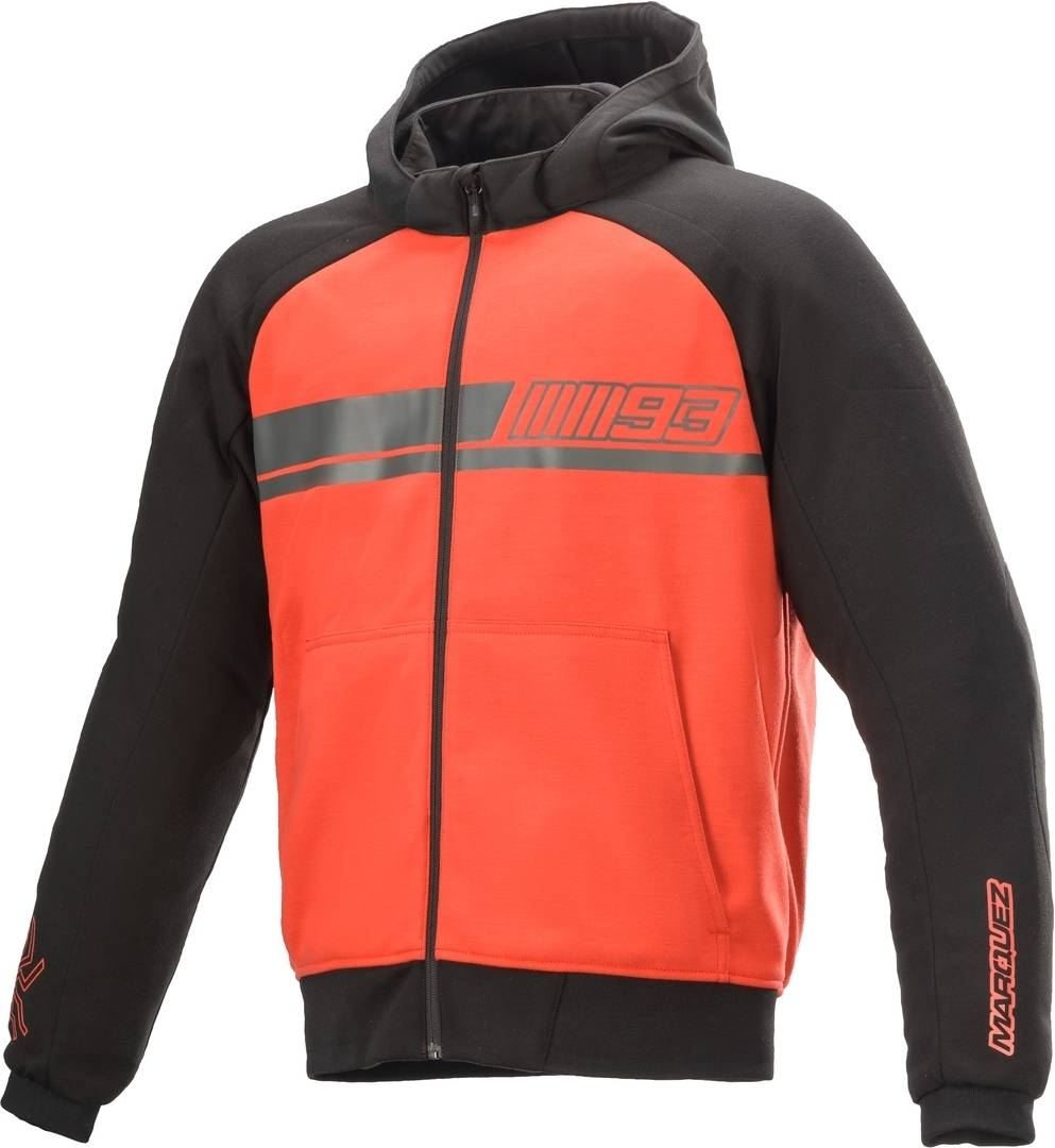 Alpinestars MM93 Aragon Stripe Veste textile de moto Noir Rouge taille : S