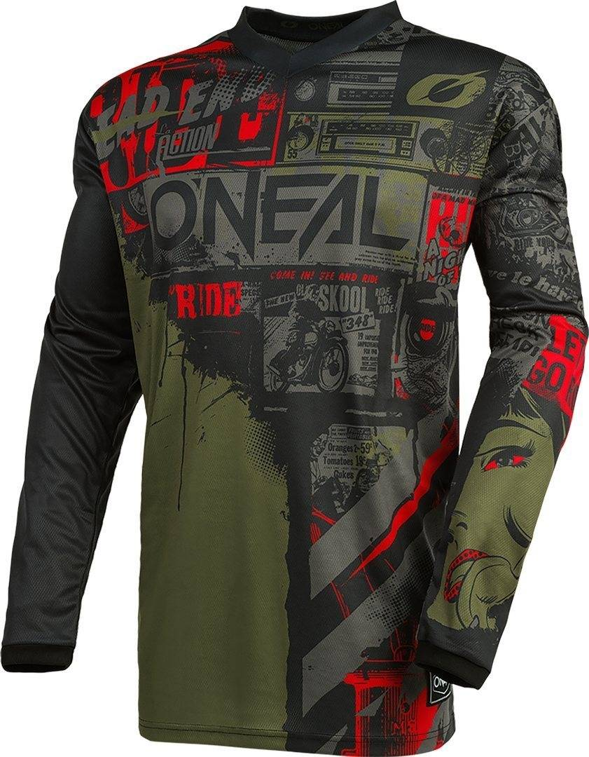 Oneal Element Ride Maillot motocross Noir Vert taille : XL