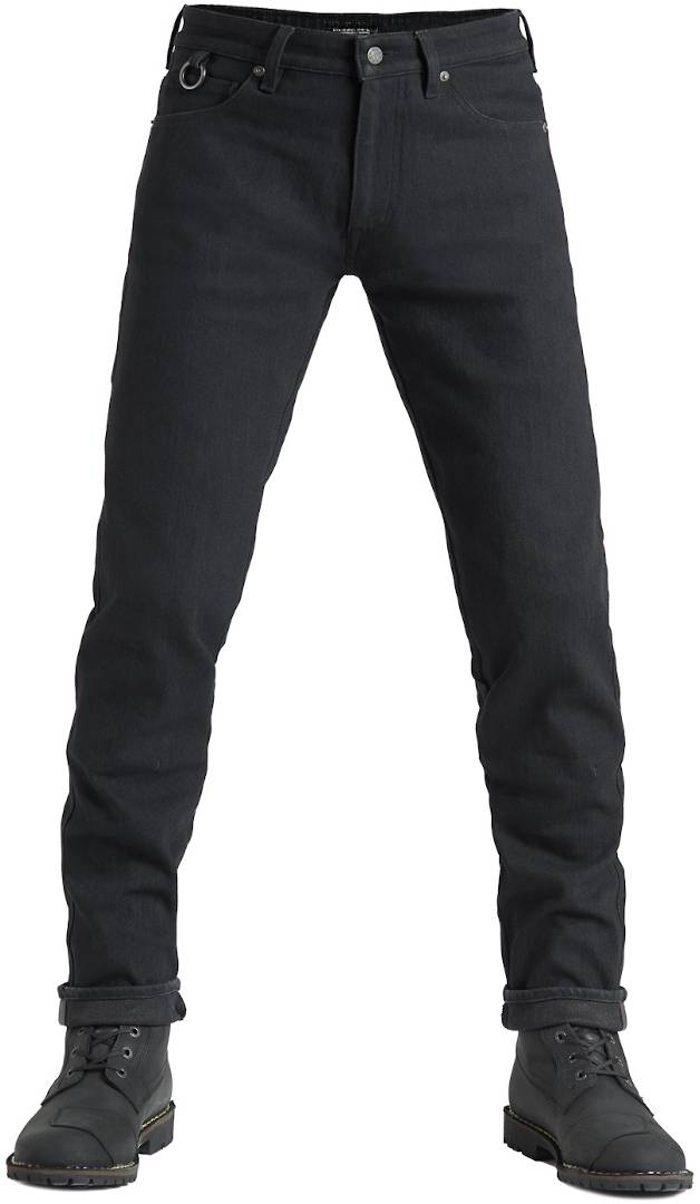 Pando Moto Steel Black 02 Jeans de moto Noir taille : 34