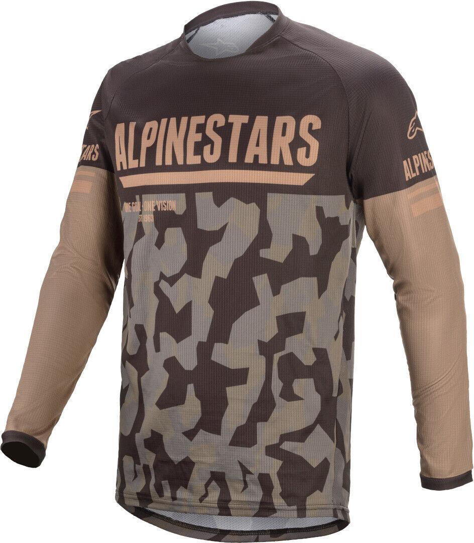 Alpinestars Venture R Camo Maillot motocross Noir Brun taille : S