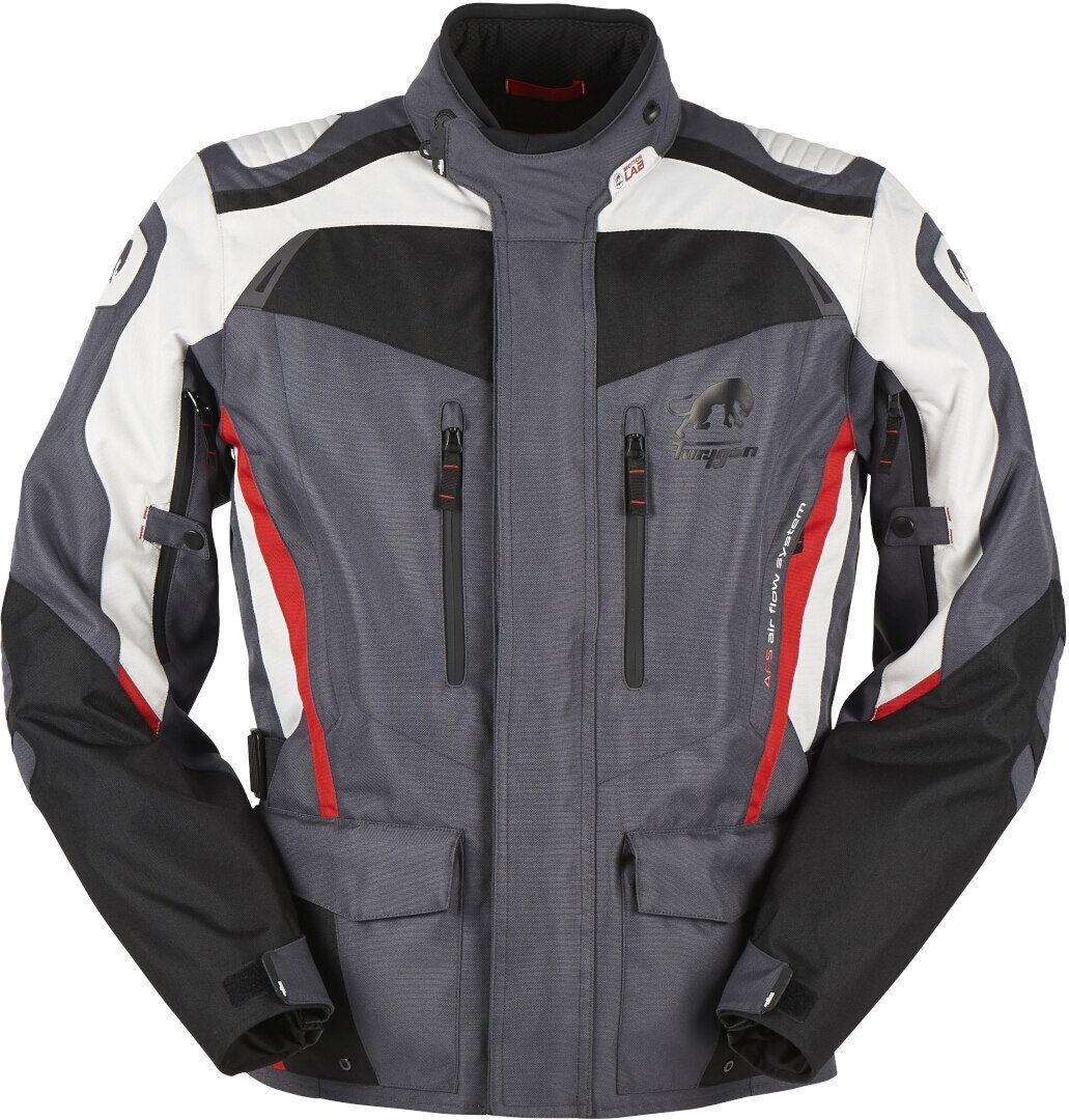 Furygan Apalaches Veste textile moto Noir Gris Rouge taille : L