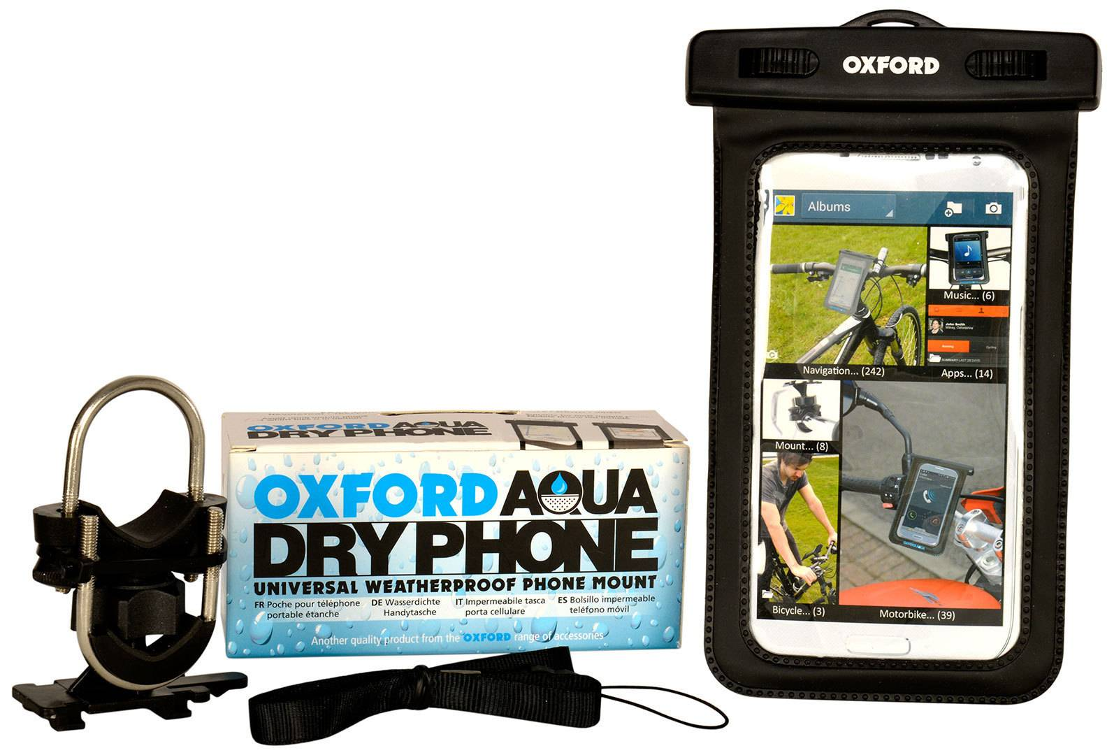 Oxford Aqua Dry Montage de téléphone mobile unique taille