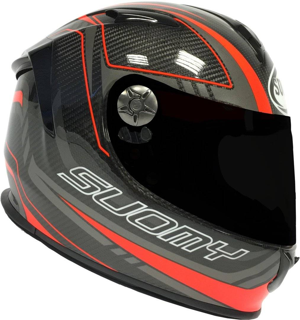 Suomy SR-Sport Carbon Red Helmet Casque Charbon taille : L