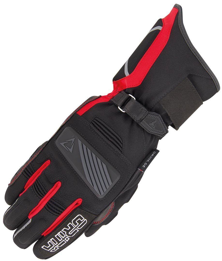 Orina Blizzard Gants de moto imperméables Noir Rouge taille : L