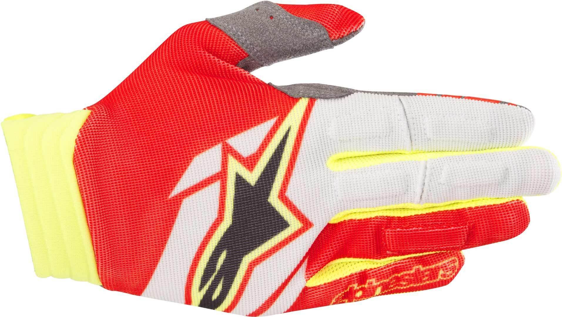 Alpinestars Aviator Gloves 2018 Gants Noir Blanc Rouge taille : S