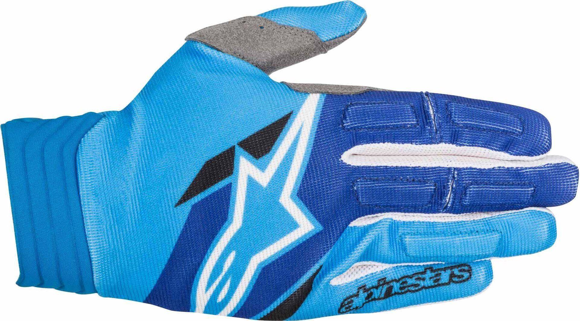 Alpinestars Aviator Gloves 2018 Gants Blanc Bleu taille : S