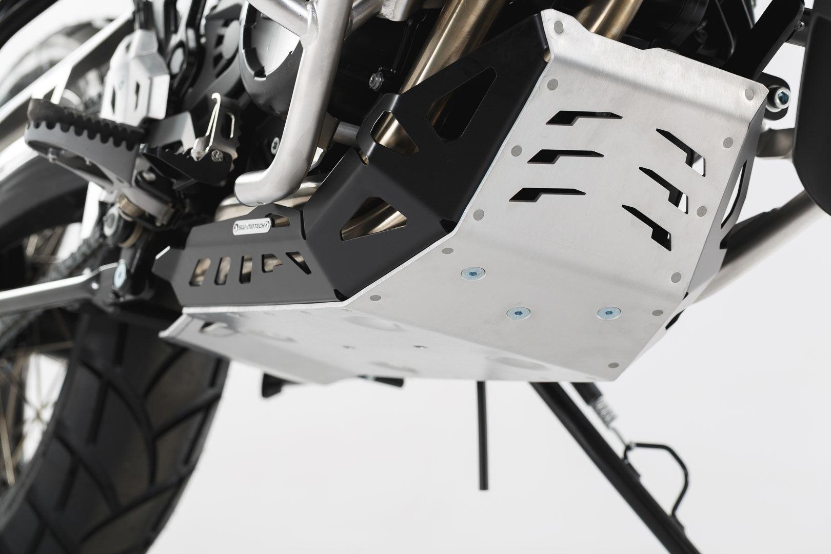 SW-Motech Sabot moteur - Noir/Gris. BMW GS-modèles / Husqvarna Nuda 900. Noir Argent taille : unique taille