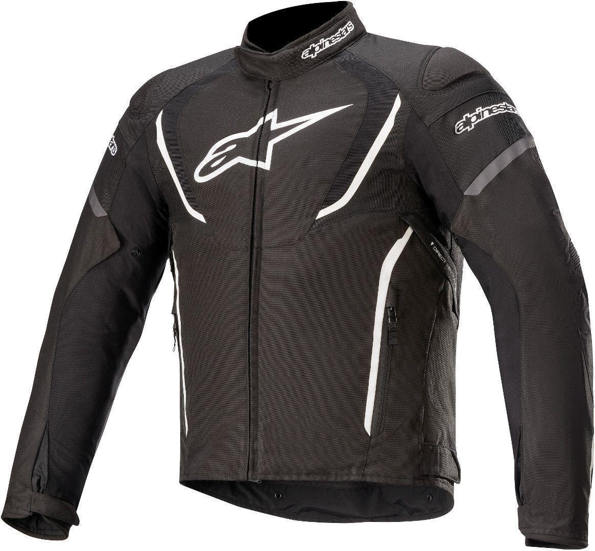 Alpinestars T-Jaws V3 Veste textile de moto imperméable à l'eau Noir Blanc taille : S