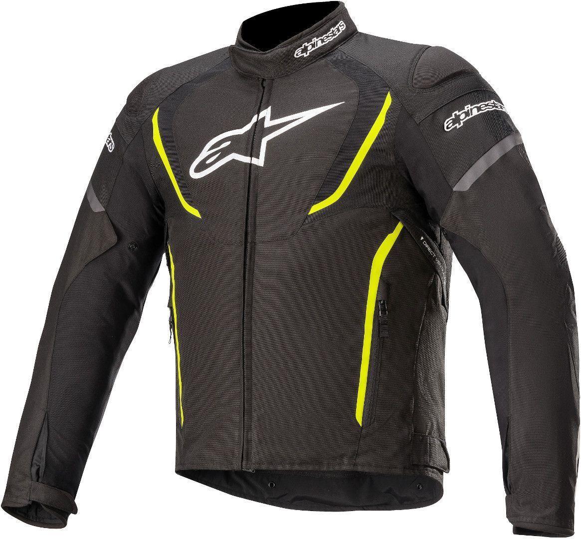 Alpinestars T-Jaws V3 Veste textile de moto imperméable à l'eau Noir Jaune taille : L