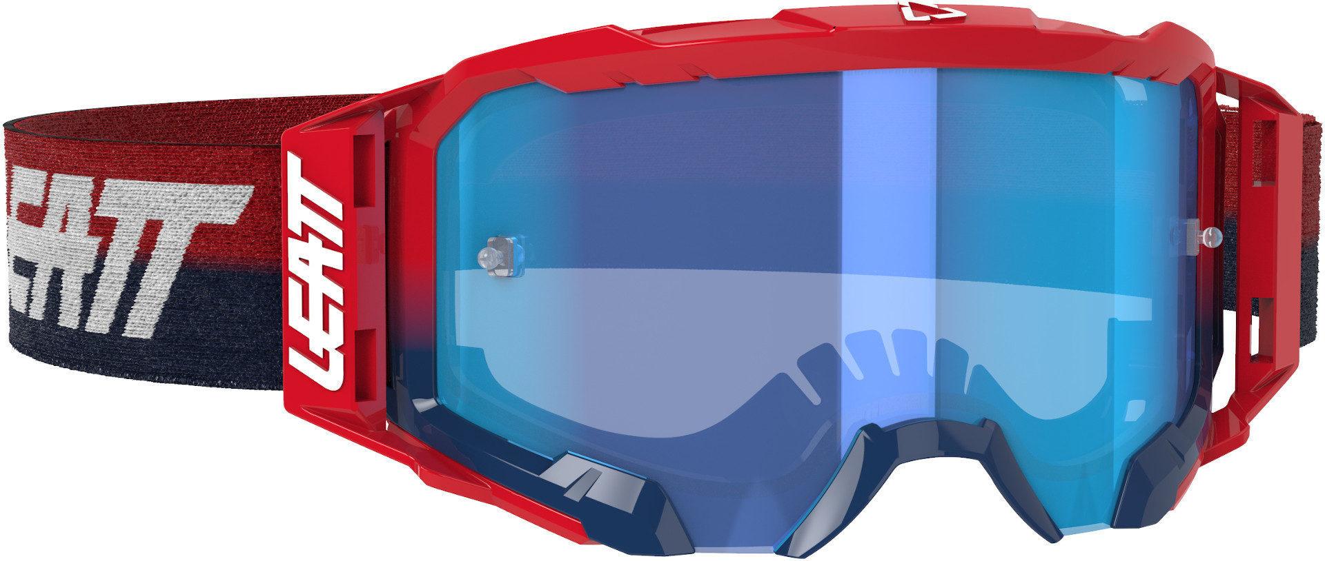 Leatt Velocity 5.5 Lunettes Motocross Rouge Bleu taille : unique taille