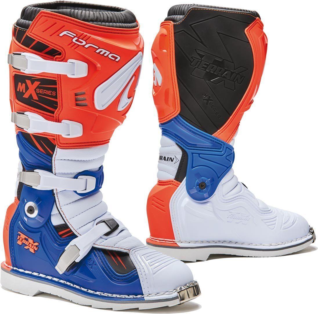 Forma Terrain TX 2.0 Bottes Motocross Blanc Bleu Orange taille : 40