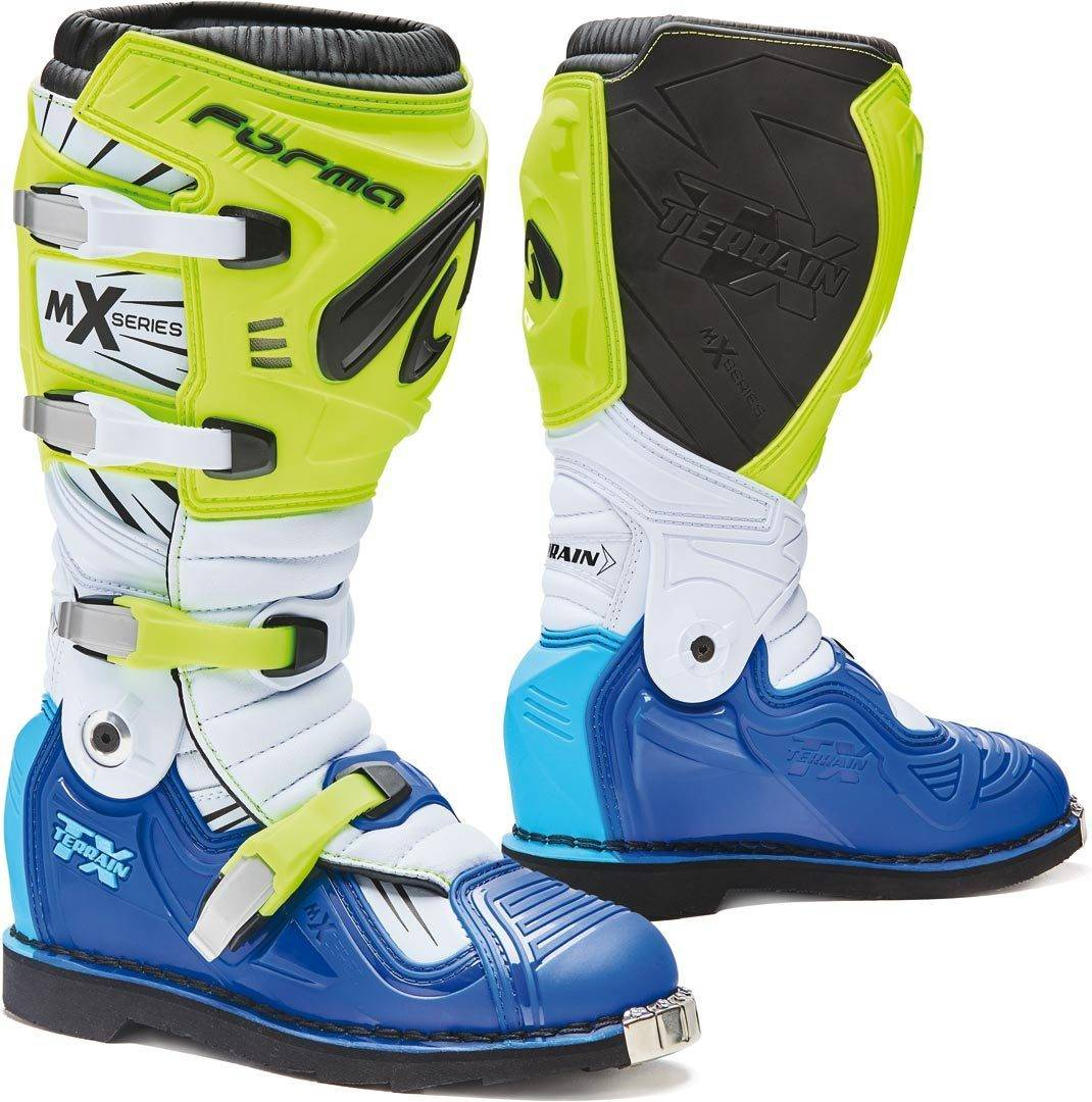 Forma Terrain TX 2.0 Bottes Motocross Blanc Bleu Jaune taille : 43