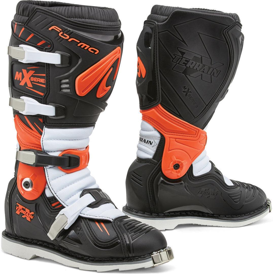 Forma Terrain TX 2.0 Bottes Motocross Noir Blanc Orange taille : 43