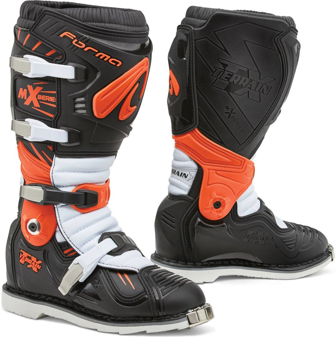 Forma Terrain TX 2.0 Bottes Motocross Noir Blanc Orange taille : 44