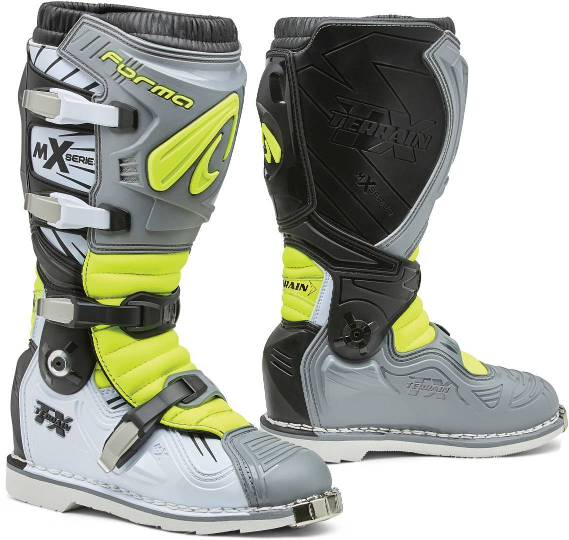 Forma Terrain TX 2.0 Bottes Motocross Gris Jaune taille : 43