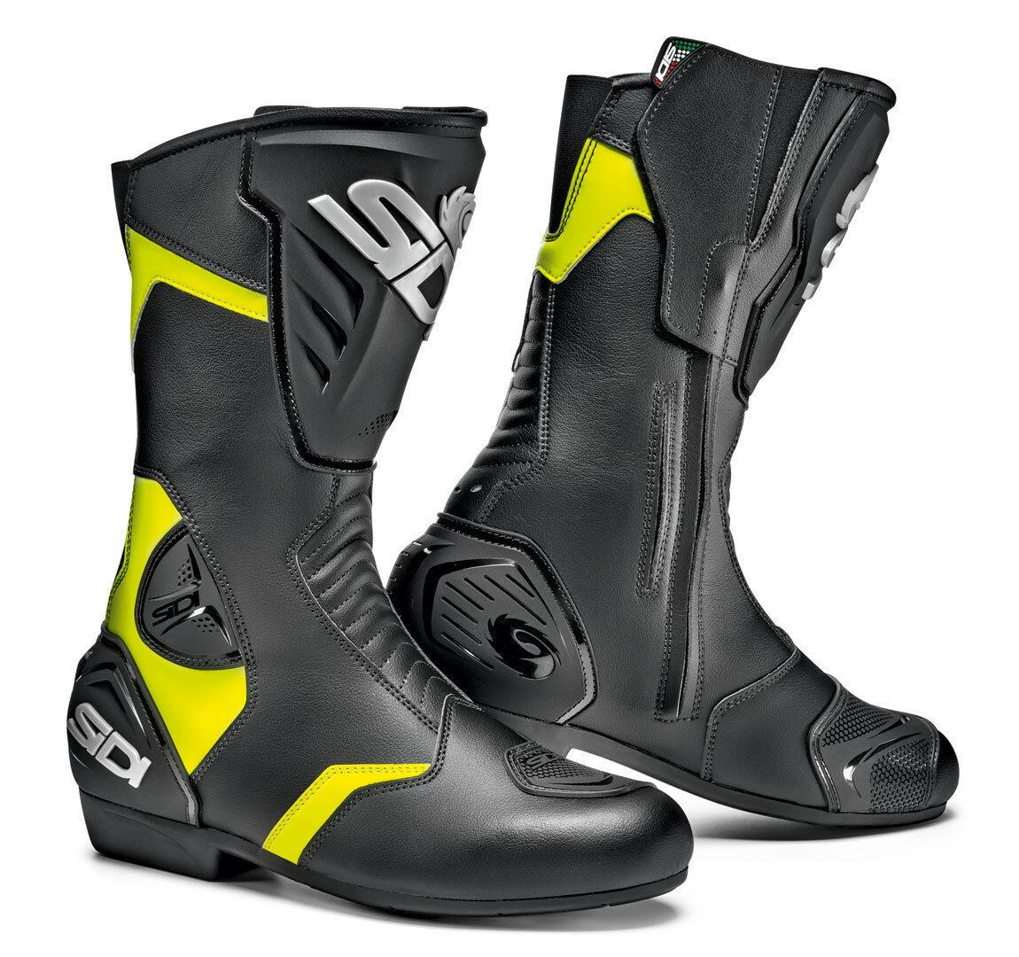 Sidi Black Rain Bottes de moto imperméable à l'eau Noir Jaune taille : 42