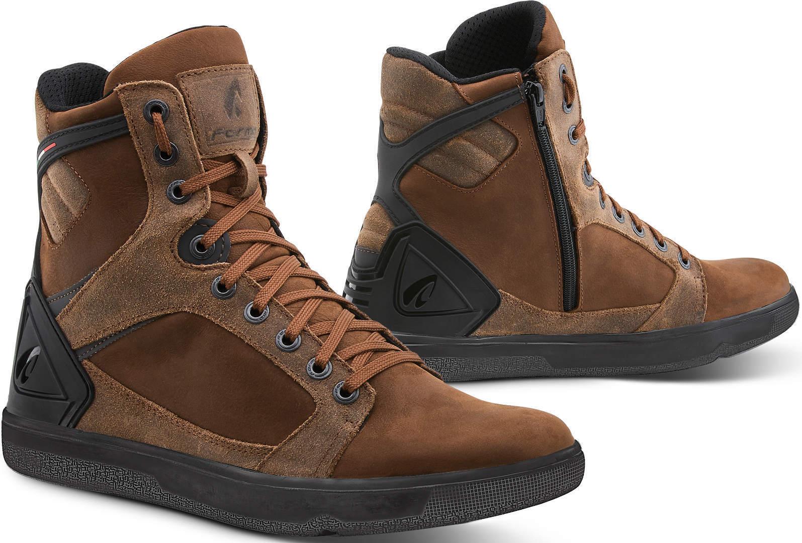 Forma Hyper Chaussures de moto imperméables Brun taille : 36