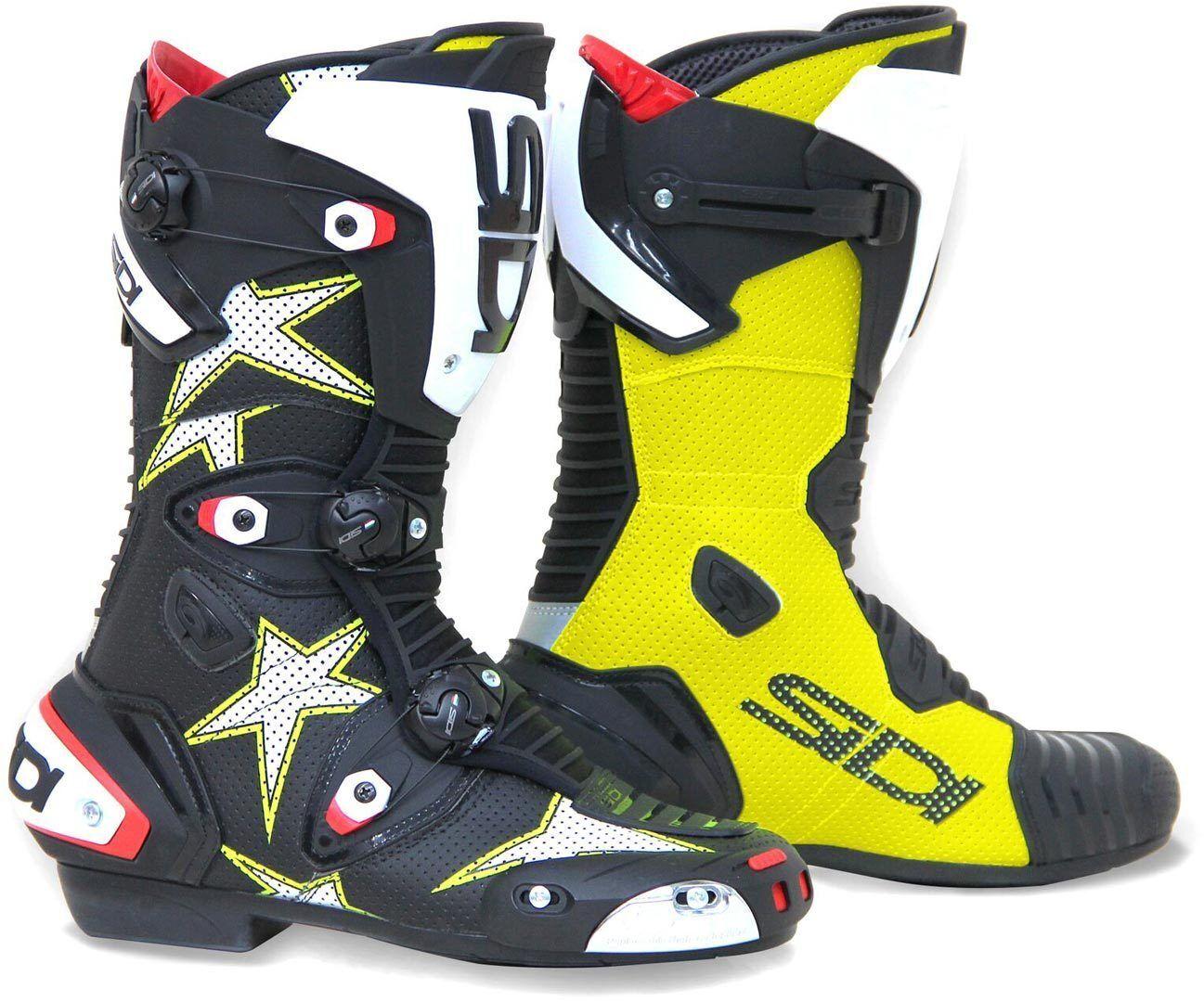 Sidi Mag-1 Air Stars Bottes de moto de course Noir Jaune taille : 40