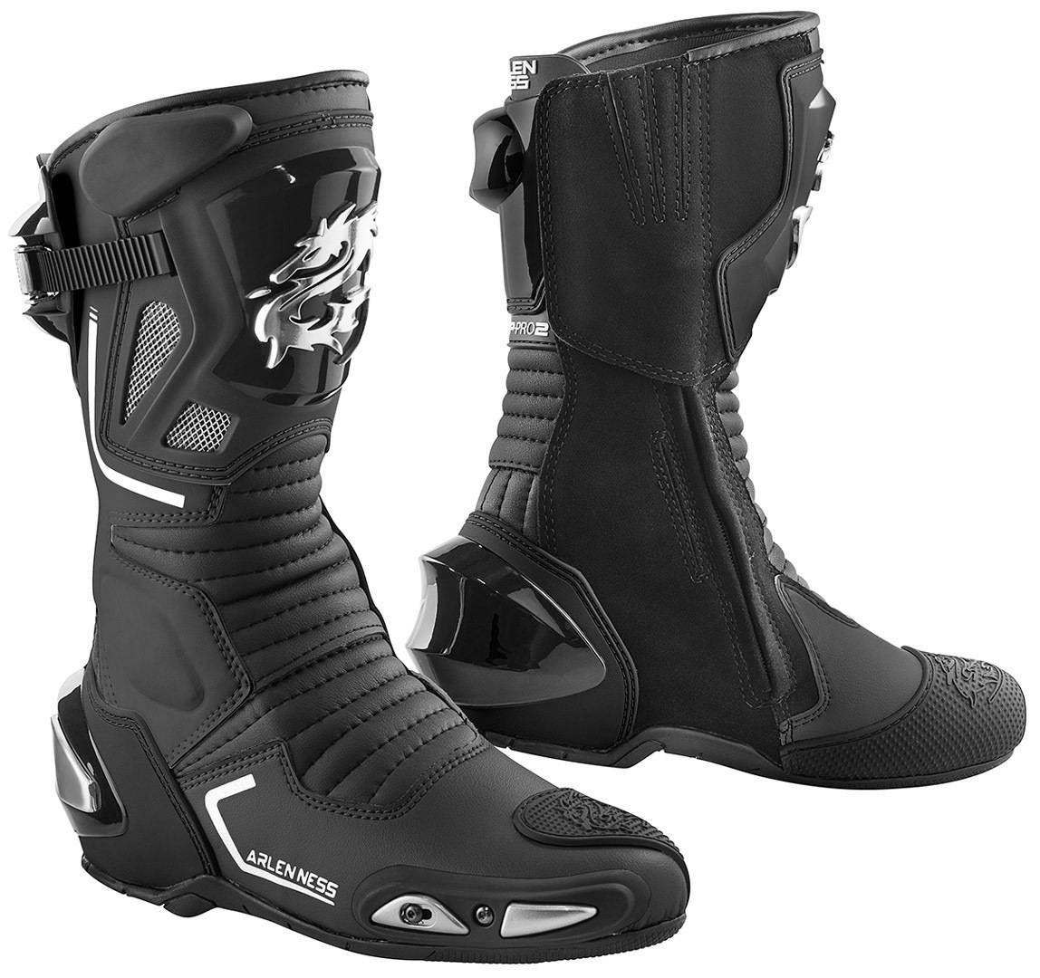 Arlen Ness Sugello Bottes de moto Noir taille : 44