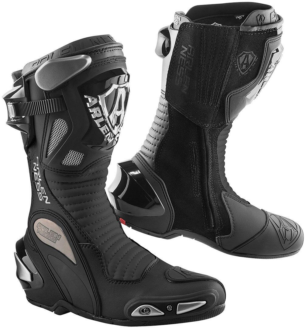 Arlen Ness Xaus Replica Bottes de moto Noir taille : 45