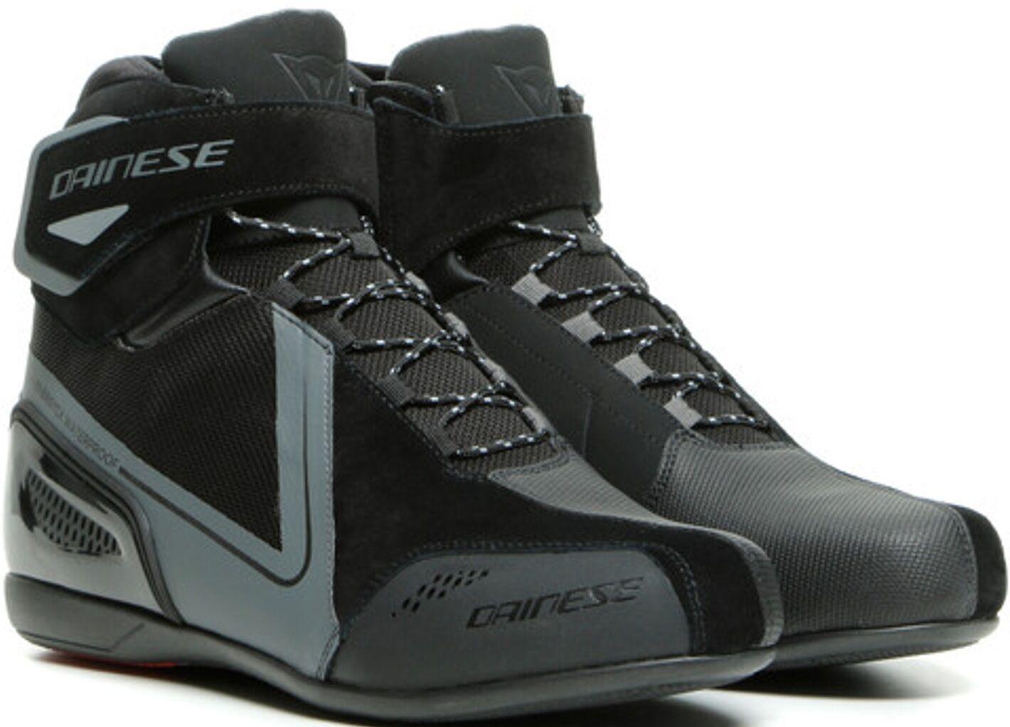 Dainese Energyca D-WP chaussures de moto imperméables à l'eau Noir Gris taille : 39