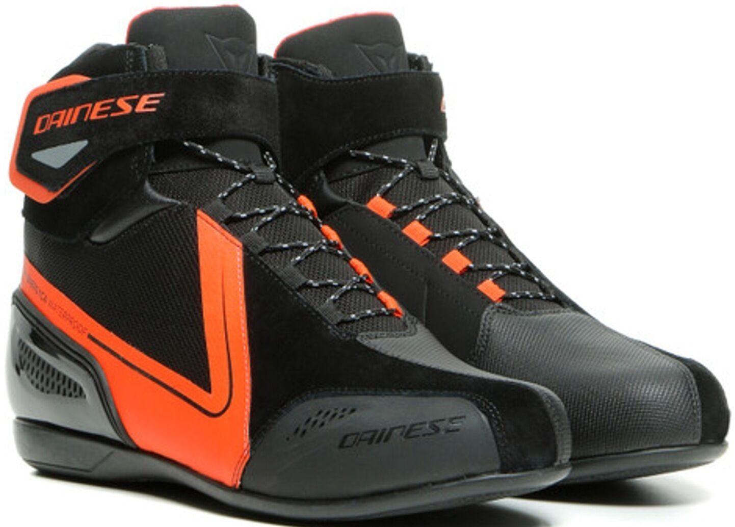 Dainese Energyca D-WP chaussures de moto imperméables à l'eau Noir Rouge taille : 39