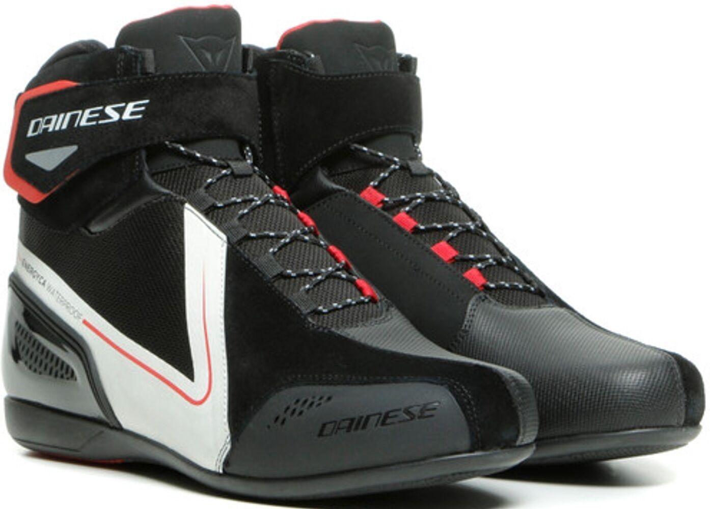 Dainese Energyca D-WP chaussures de moto imperméables à l'eau Noir Blanc taille : 47