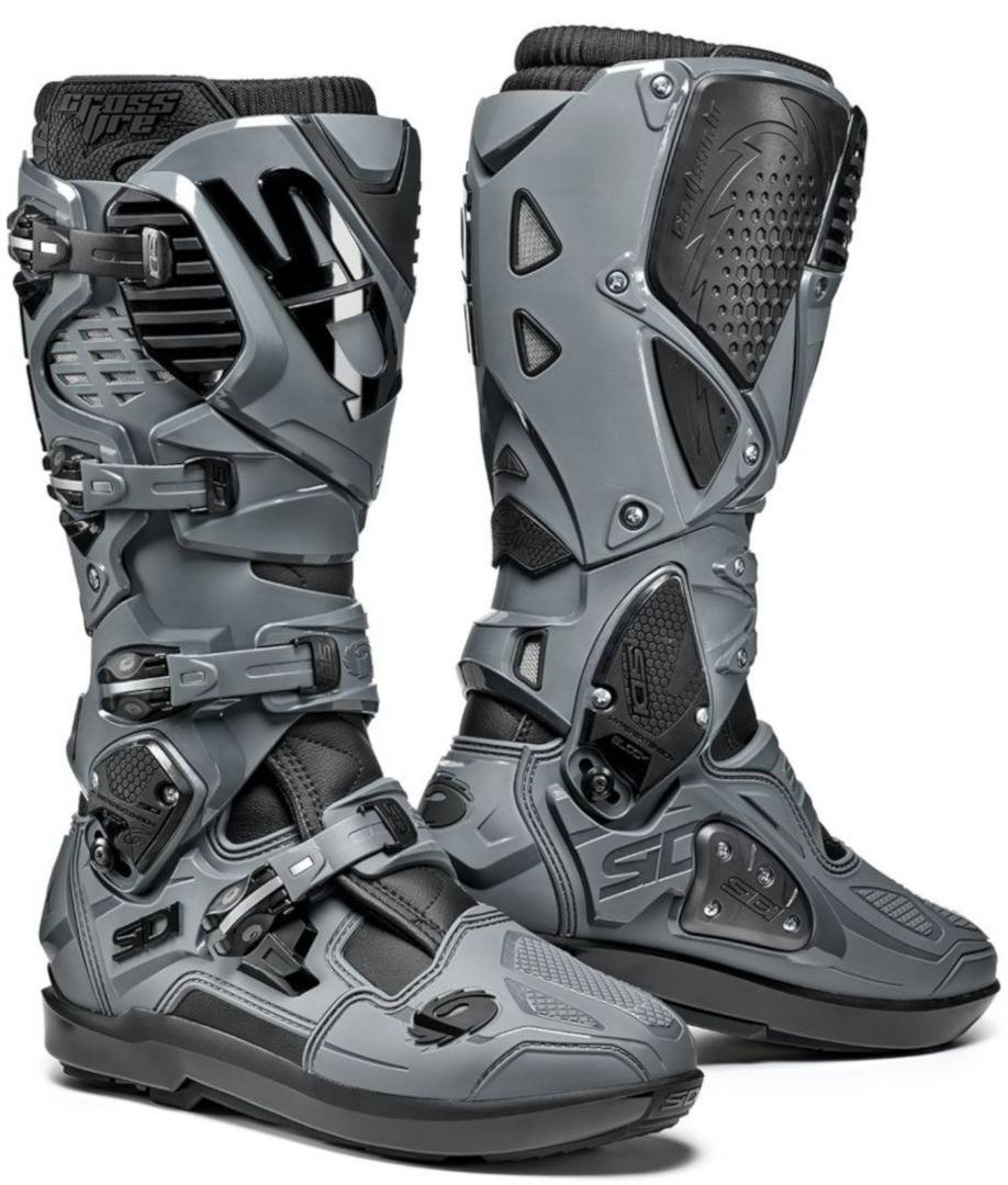 Sidi Crossfire 3 SRS Limited Edition Bottes Motocross Noir Gris taille : 47