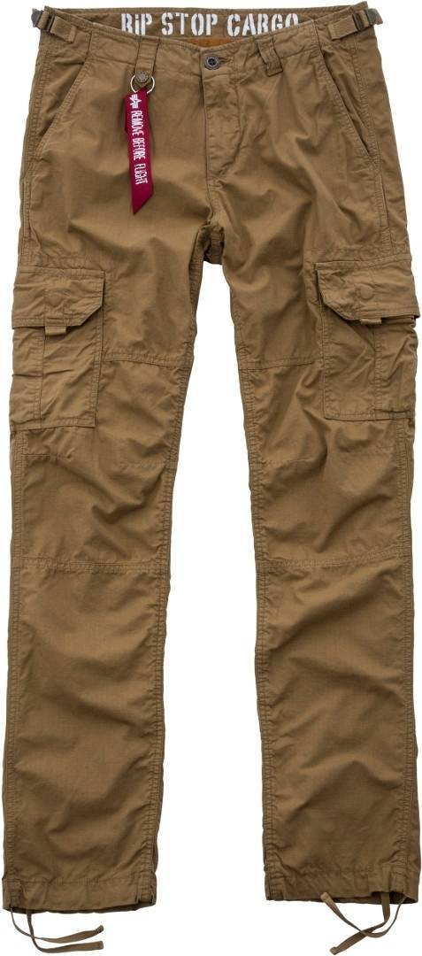 Alpha Industries Rip Stop Cargo Jeans/Pantalons Vert Brun taille : 33