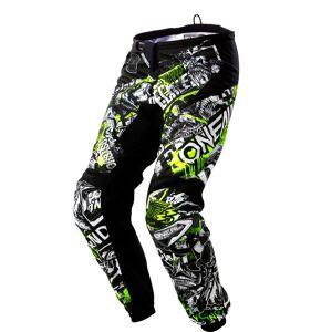 Oneal Element Attack Pantalon Motocross pour les jeunes Noir Jaune taille : XL - Publicité