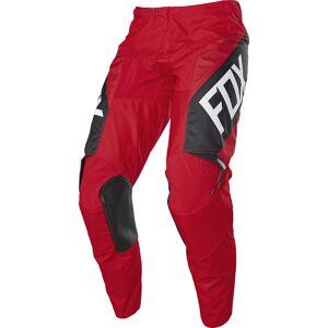 Fox 180 REVN Pantalon motocross pour les jeunes Noir Blanc Rouge taille : XL - Publicité