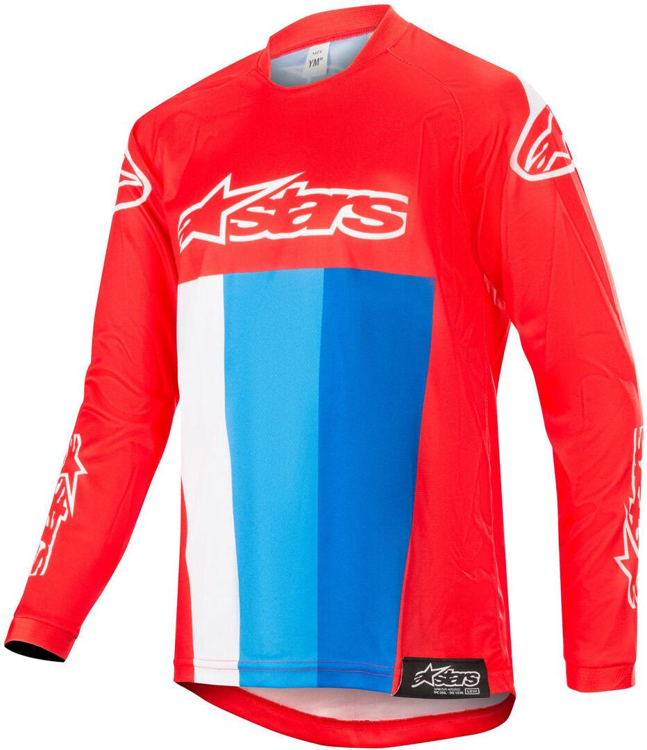 Alpinestars Racer Venom Motocross Maillot Jeunesse 2018 Blanc Rouge Bleu taille : M