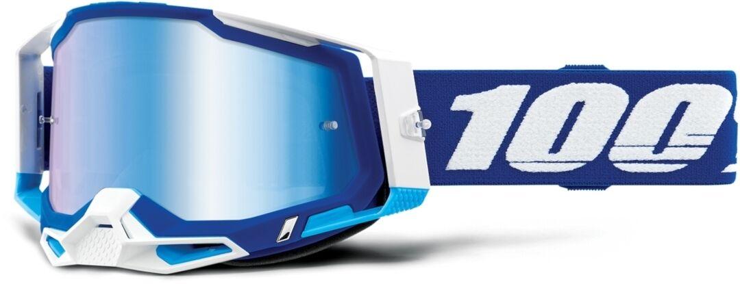 100% Racecraft II Lunettes de motocross Blanc Bleu taille : unique taille