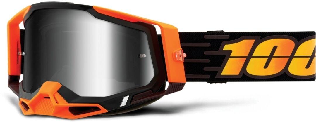 100% Racecraft II Costume 2 Lunettes de motocross Noir Orange taille : unique taille