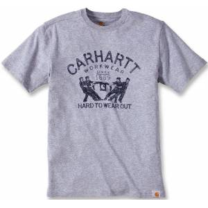 Carhartt Hard To Wear Out T-Shirt Gris taille : XL