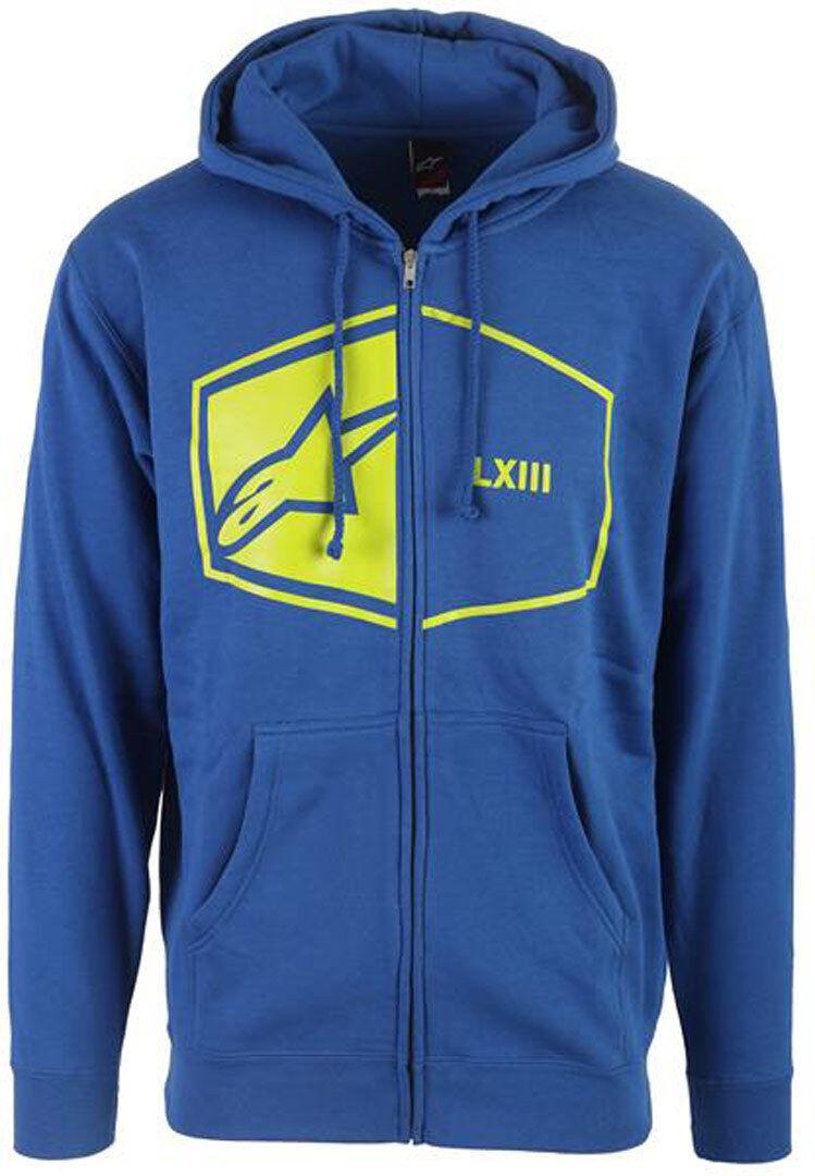 Alpinestars 50/50 Zip Chandail à capuchon Bleu taille : S