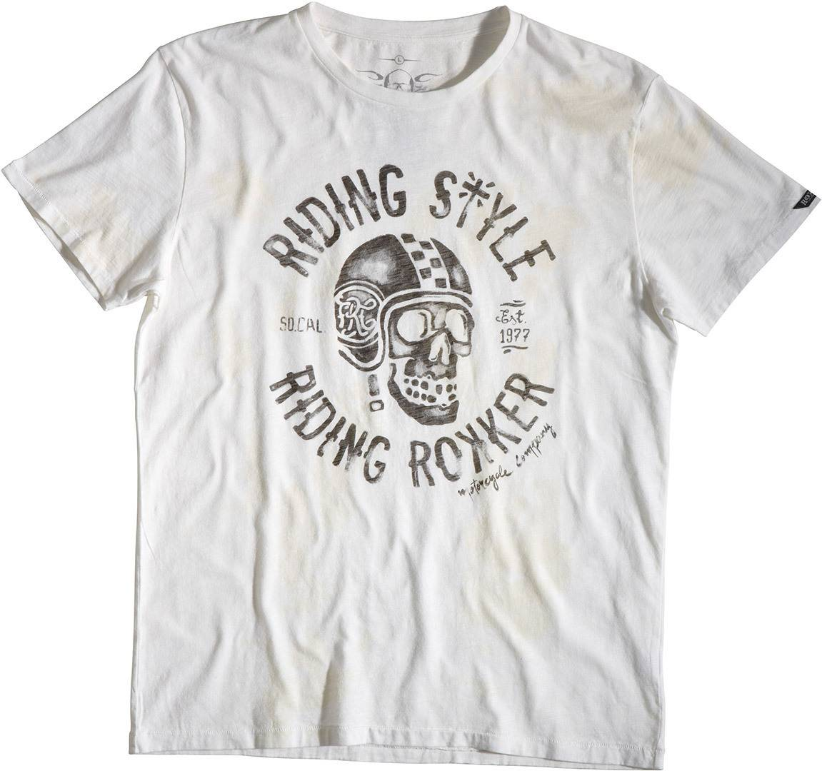 Rokker Riding T-Shirt Blanc taille : 2XL