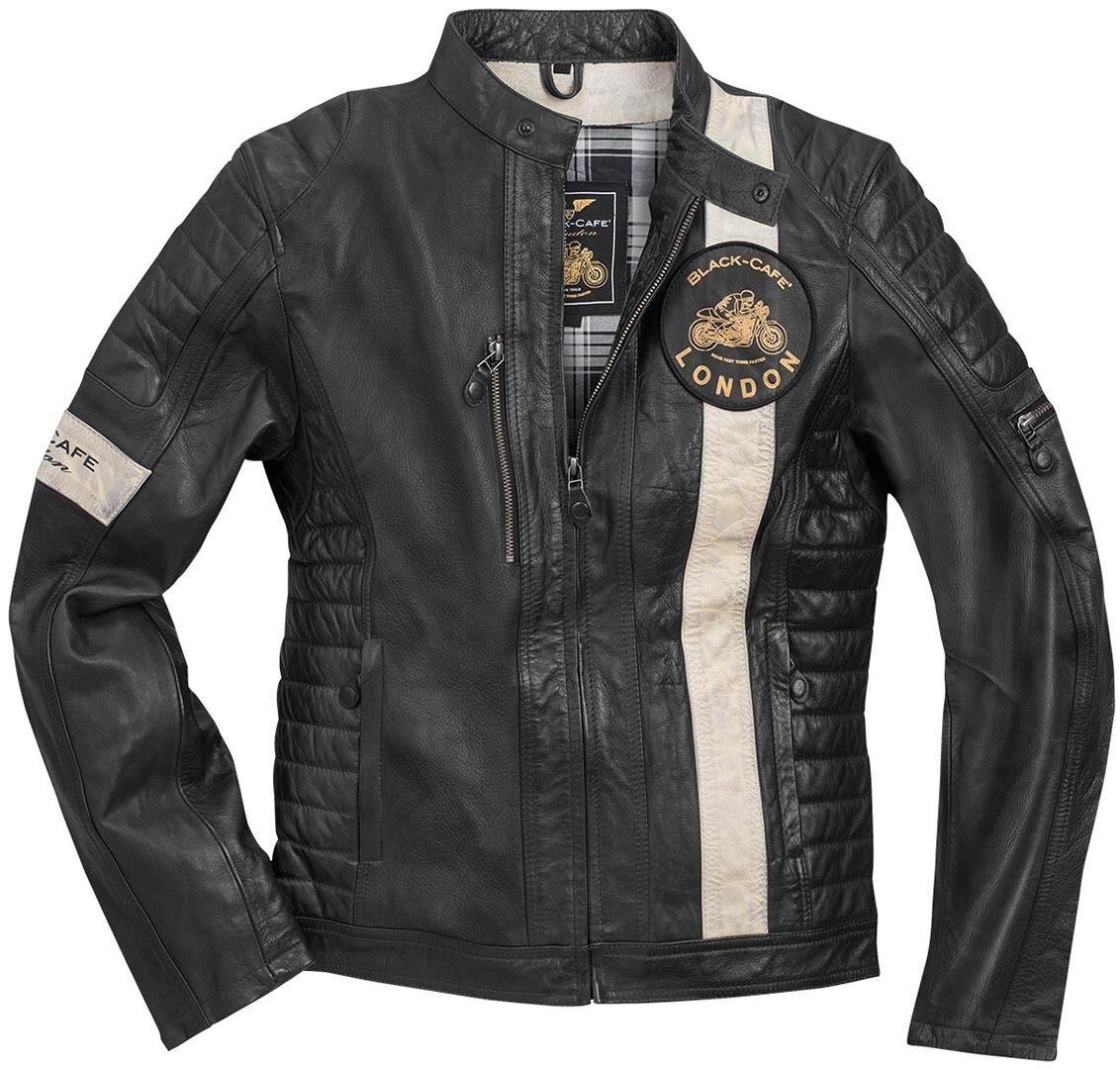 Black-Cafe London Paris Veste en cuir de moto Noir taille : 60