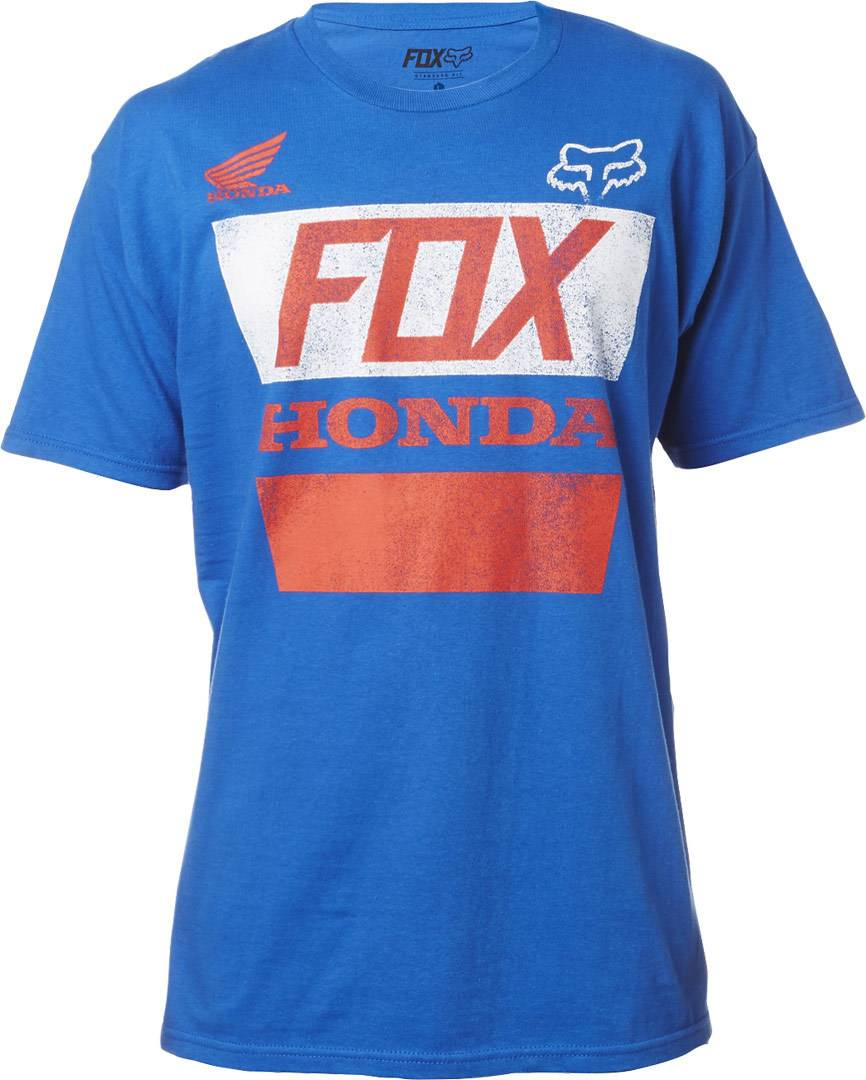 Fox Honda Distressed Basic T-Shirt Bleu taille : S