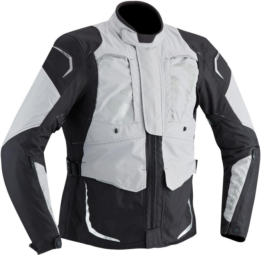 Ixon Cross Air Veste textile imperméable à l'eau Noir Gris taille : 2XL