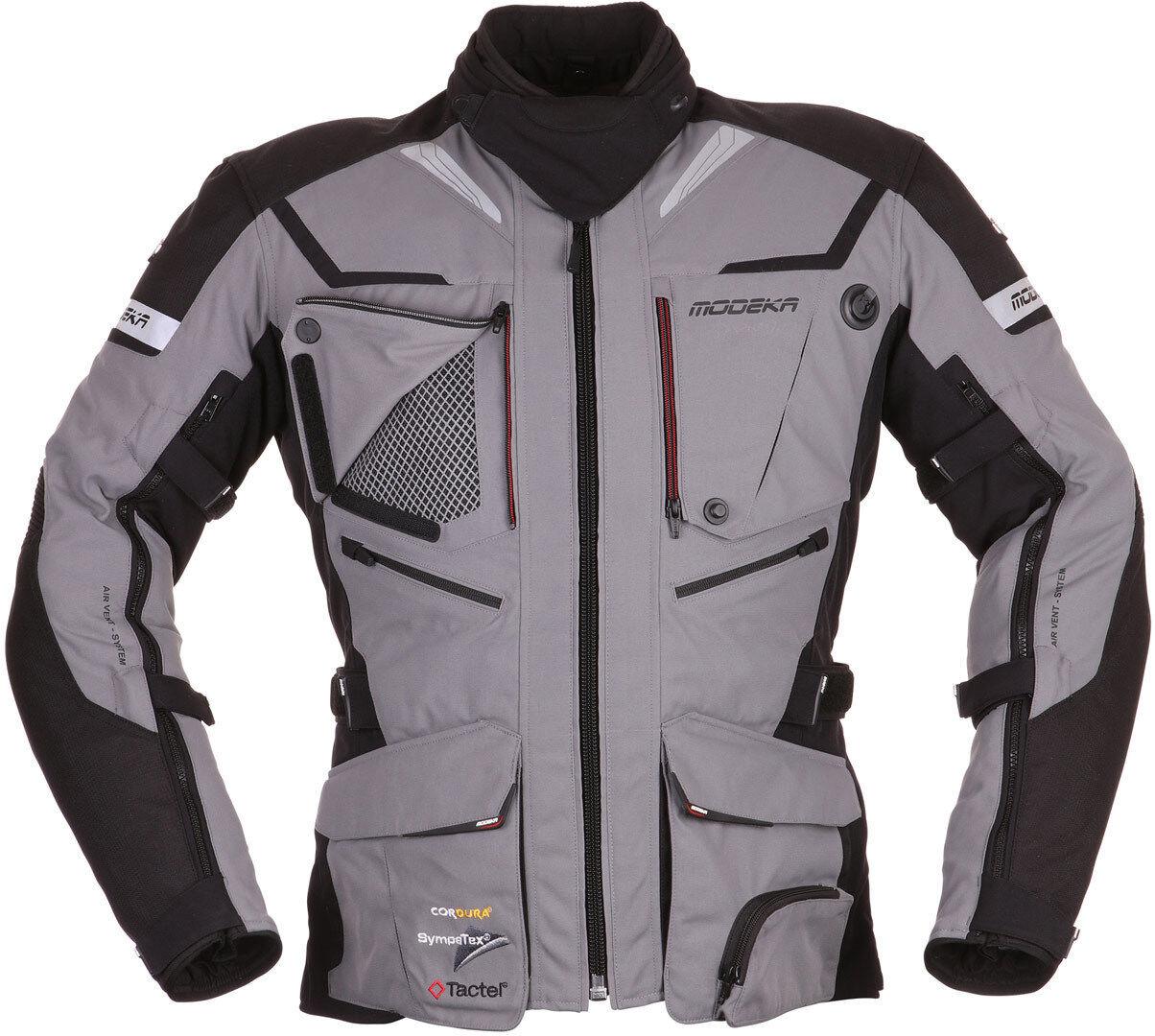Modeka Panamericana Veste textile de moto Noir Gris taille : L
