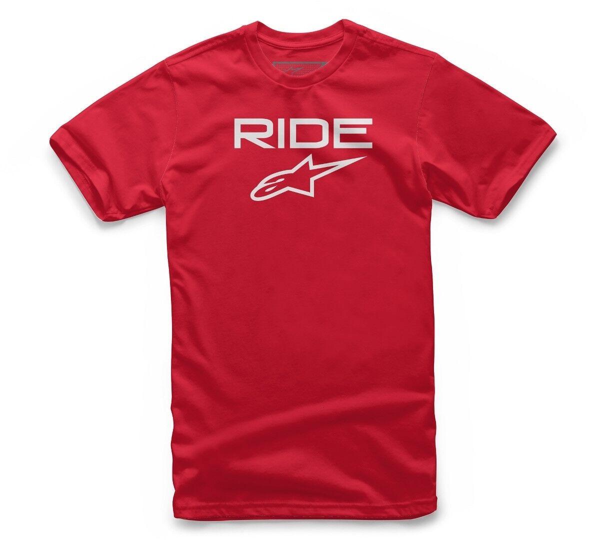 Alpinestars Ride 2.0 Tee T-Shirt Blanc Rouge taille : XL