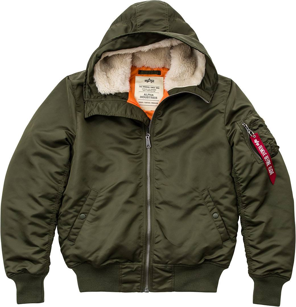 Alpha Industries MA-1 Hooded Veste Vert taille : 3XL