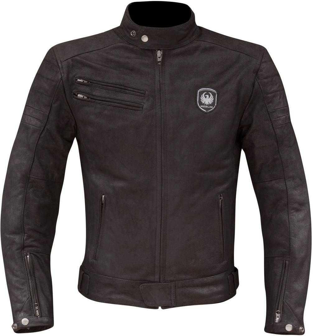Merlin Alton Veste de moto en cuir Noir taille : L