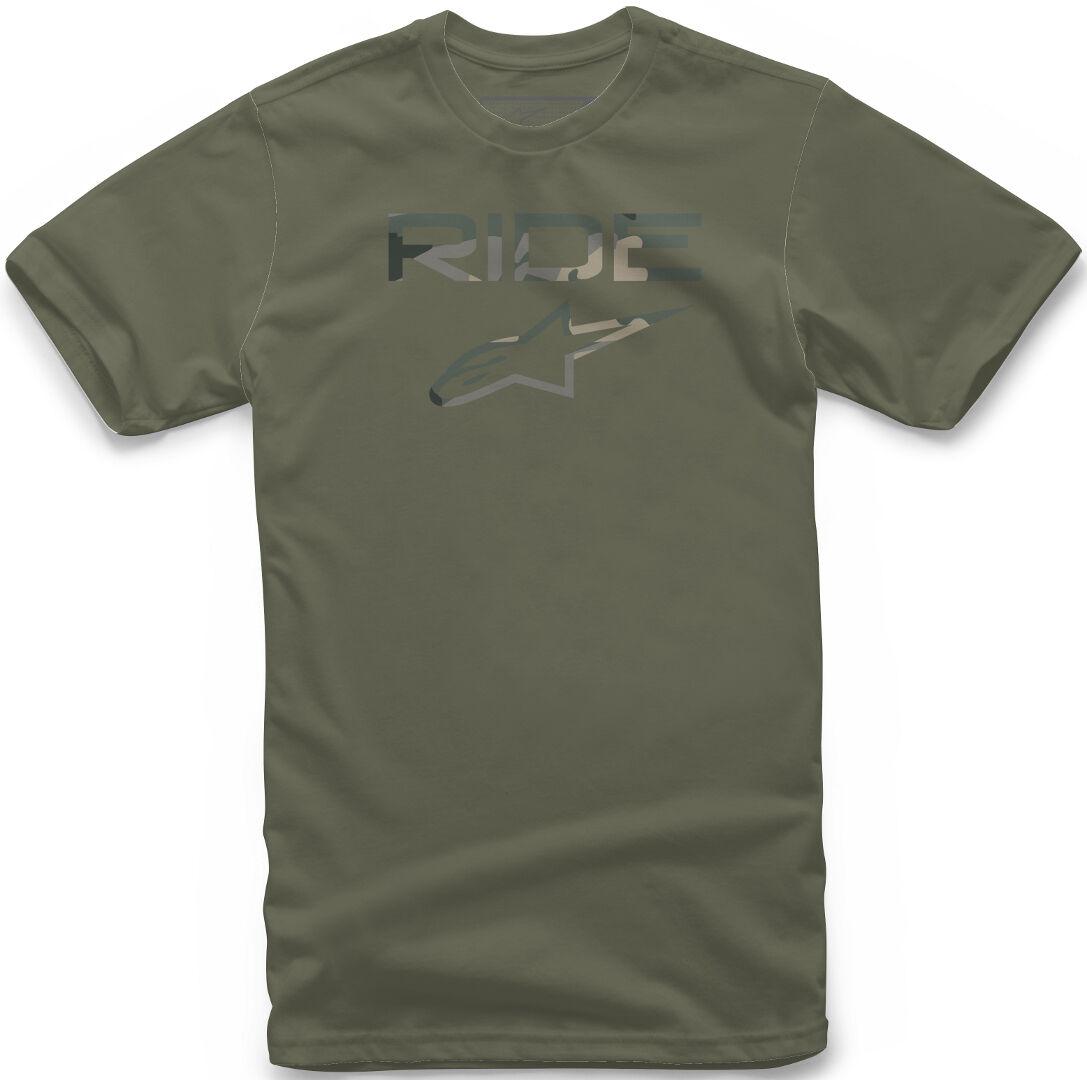 Alpinestars Ride 2.0 Camo T-Shirt Vert taille : XL