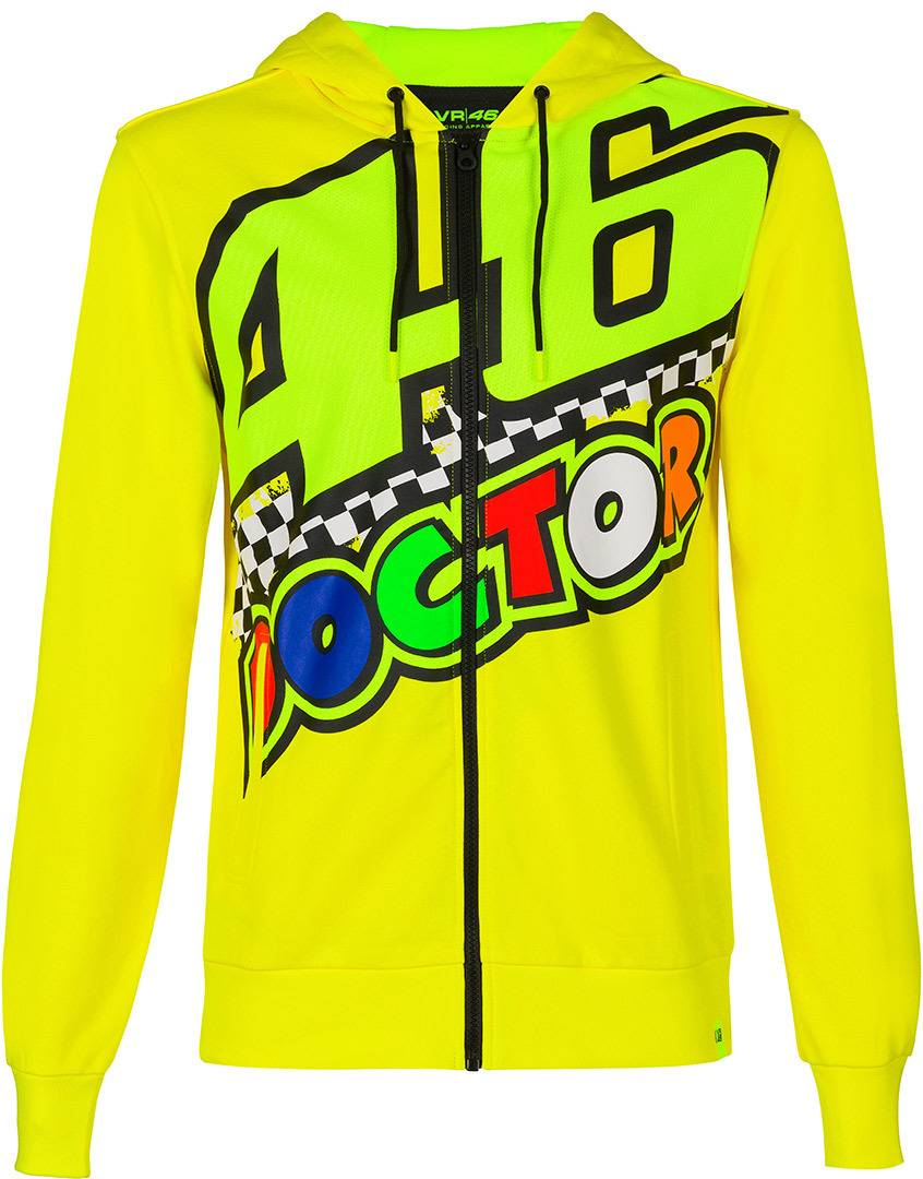 VR46 The Doctor 46 Capuche Jaune taille : XS