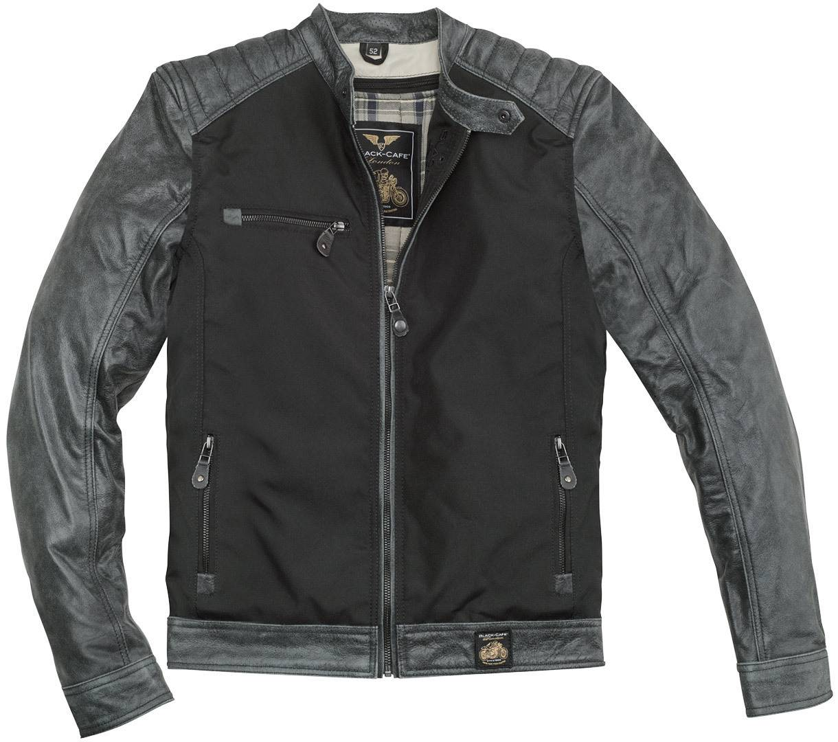 Black-Cafe London Johannesburg Cuir de moto / Veste textile Noir Gris taille : 54